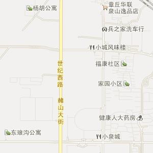 章丘明水电子地图_中国电子地图网