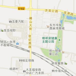 章丘市明水街道电子地图_明水