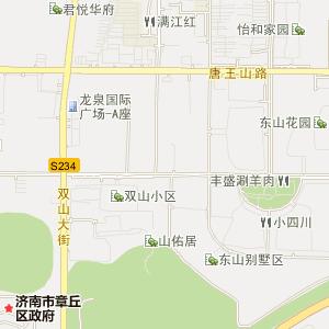 济南市章丘市高清电子地图_章