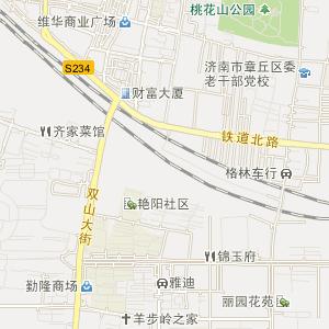 山东济南章丘市地图
