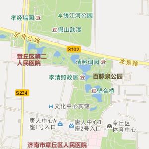 章丘明水电子地图_明水道路地