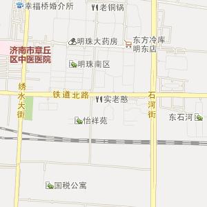 章丘明水电子地图_明水道路地图