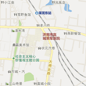 淄博至章丘地图