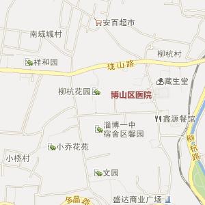 山东电子地图 淄博电子地图