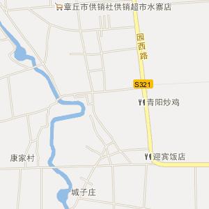 章丘市水寨镇在线电子地图查询