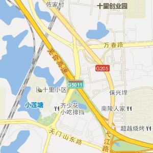 无为到和县的地图