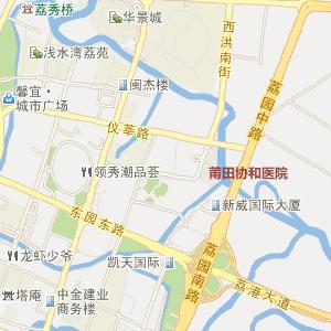 福建电子地图 莆田电子地图