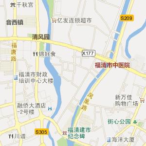 福州福清电子地图_福清在线旅游交通图图片