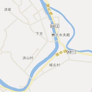 浦江白马镇电网地理接线图