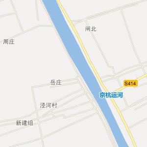 扬州市泾河镇行政地图