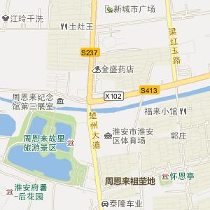 淮安楚州电子地图_中国电子地图网