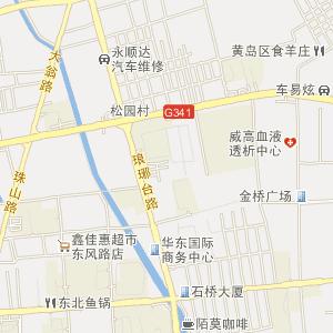青岛市胶南市电子地图