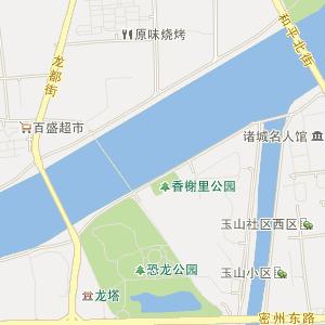 潍坊市诸城市电子地图
