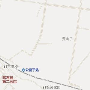 《辽宁朝阳喀左地图 》