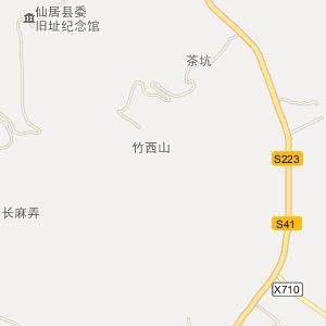 仙居风景区地图
