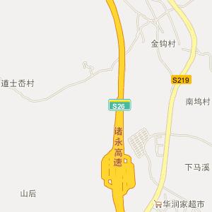 磐安县深泽乡电子地图