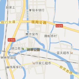 西连杭州市萧山区,北邻杭州萧山国际机场