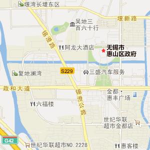 无锡惠山电子地图_中国电子地图网