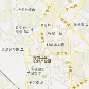 山东省电子地图 青岛市电子地图