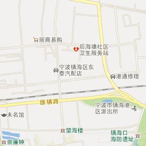 宁波北仑招宝山地图