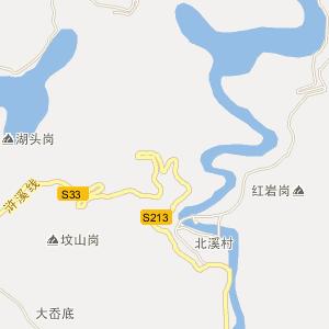四明山地图全图高清版