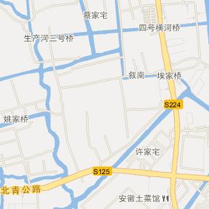 上海青浦区重固镇地图