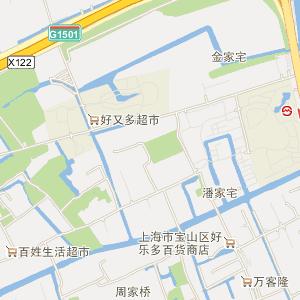 杨行镇地图_宝山区杨行镇三维电子地图和邮编