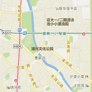 浦东浦兴路地图