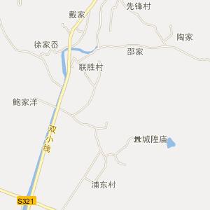 定海双桥电子地图_双桥道路地图