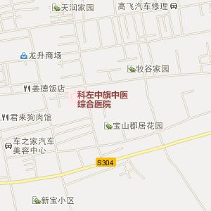 通辽电网地理接线图