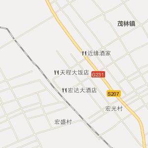 双辽市茂林镇电子地图
