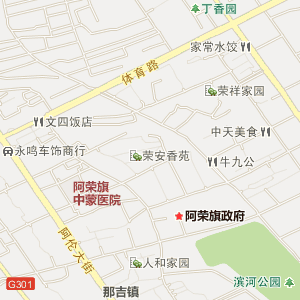 内蒙古呼伦贝尔市阿荣旗地图