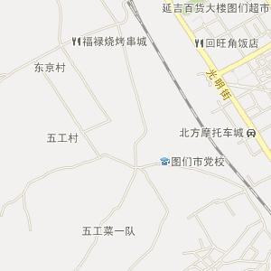 延边市地图,延边电子地图,延边