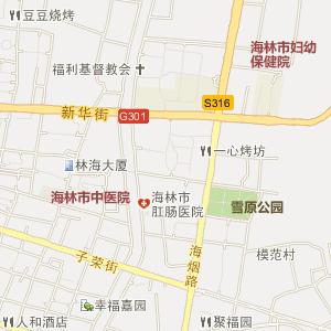 海林市卫星地图 黑龙江省牡丹江市海林市