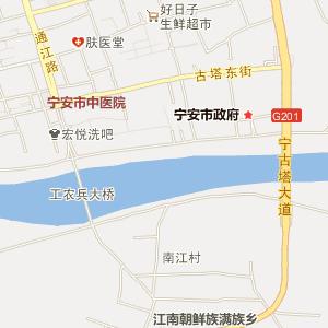 牡丹江宁安电子地图_中国电子地图网