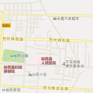 哈拉布拉乡行政地图 塔城地区裕民县哈拉布拉乡行政