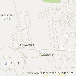 新疆塔城电子地图_塔城在线旅游交通图