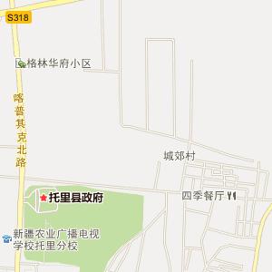 塔城托里电子地图_中国电子地图网