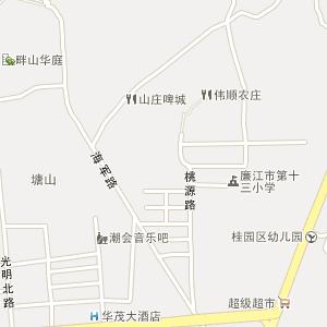 湛江市廉江市城北街道地图