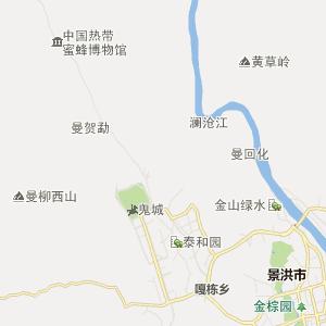 昆明至景洪地图