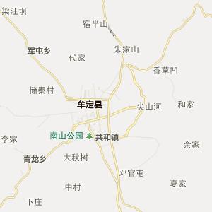 楚雄州牟定县行政地图