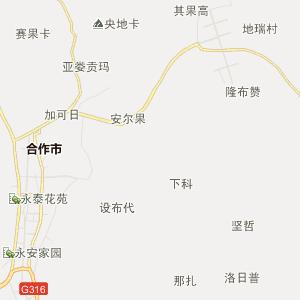 甘肃甘南行政地图_中国电子地图网图片