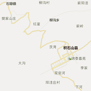 临夏州积石山县行政地图