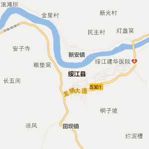 屏山县新安镇行政地图