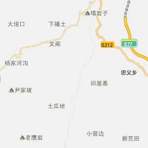 盘县响水行政地图_中国电子地图网