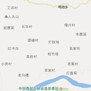 屏山县鸭池乡行政地图