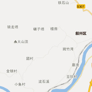 宜宾市行政地图 屏山县行政地