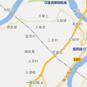 宜宾市行政地图 翠屏区行政地图