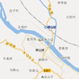 屏山县大乘镇行政地图
