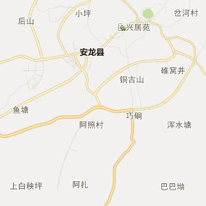 黔西南安龙行政地图_安龙在线高清行政图查询
